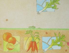 Декорация със зеленчуци и плодове