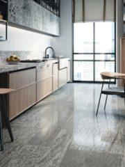 """Свежи цветове и настроение за кухнята. Това предлага серията фаянс Arts на испанската фабрика Ape Grupo. Тя съчетава голямо разнообразие от пастелни, топли и нежни цветове за стенно покритие и декорация с флорални мотиви. А за пода - модерна и нашумяла визия с размер 20х20см от гранитогрес, интерпретация на старата мозайка. """"Баня Стил""""."""