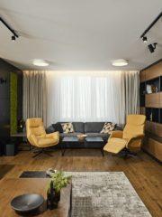 """Заради подовото отопление е избран гранитогрес, който отлично имитира дървесен декор (""""Артгрес"""")."""