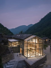 Capsule Hotel in a Rural Library, Atelier TAO+C